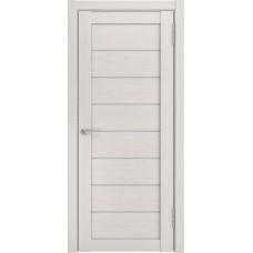 Дверь экошпон ЛУ 7 беленый дуб стекло белое
