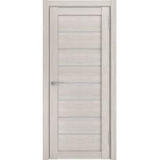 Дверь экошпон ЛУ 7 капучино стекло белое