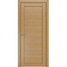 Дверь экошпон ЛУ 7 орех стекло белое