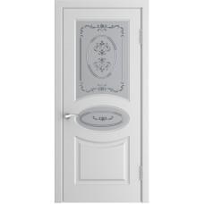 Дверь Luxor L-1 белая эмаль со стеклом