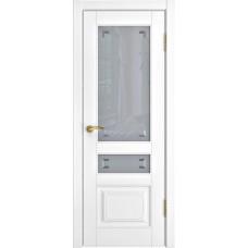 Дверь Luxor L-4 белая эмаль со стеклом