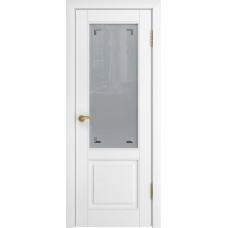 Дверь Luxor L-5 белая эмаль со стеклом