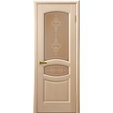 Ульяновская дверь Luxor шпон Легенда Анастасия ДО беленый дуб со стеклом
