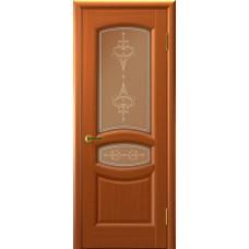 Дверь Luxor шпон Легенда Анастасия ДО темный анегри T74 со стеклом