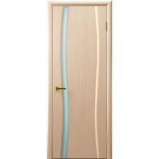 Дверь Luxor шпон Легенда Клеопатра 1 беленый дуб стекло белое