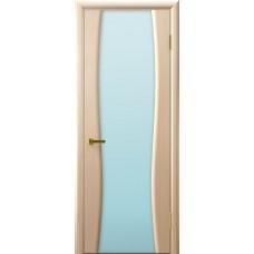 Дверь Luxor шпон Легенда Клеопатра 2 беленый дуб стекло белое