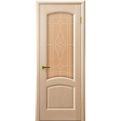Дверь Luxor шпон Легенда Лаура ДО беленый дуб со стеклом