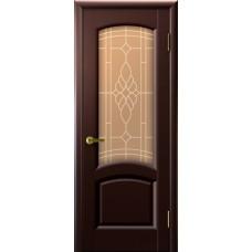Дверь Luxor шпон Легенда Лаура ДО венге со стеклом