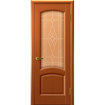 Дверь Luxor шпон Легенда Лаура ДО темный анегри T74 со стеклом