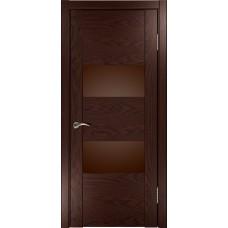 Дверь Luxor Орион 2 мореный дуб стекло лакобель