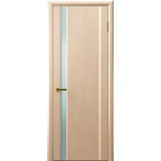 Дверь Luxor шпон Легенда Синай 1 ДО беленый дуб стекло белое