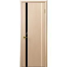 Дверь Luxor шпон Легенда Синай 1 ДО беленый дуб стекло черное