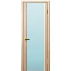 Дверь Luxor шпон Легенда Синай 3 ДО беленый дуб стекло белое