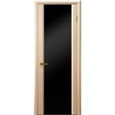 Дверь Luxor шпон Легенда Синай 3 ДО беленый дуб стекло черное