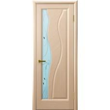 Дверь Luxor шпон Легенда Торнадо ДО беленый дуб со стеклом