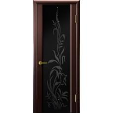 Дверь Luxor шпон Легенда Трава 2 венге стекло