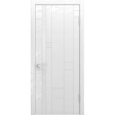 Ульяновская дверь Luxor Арт-1 ясень белая эмаль стекло Лакобель