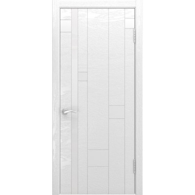 Дверь Luxor Арт-1 ясень белая эмаль стекло Лакобель