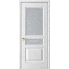 Ульяновская дверь Luxor Атлант-2 ДО ясень белая эмаль со стеклом
