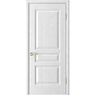 Дверь Luxor Атлант-2 ДГ ясень белая эмаль