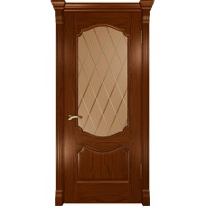Ульяновская дверь Luxor Венеция ДО дуб сандал со стеклом