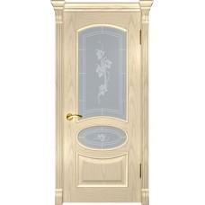 Дверь Luxor Грация ДО дуб слоновая кость со стеклом