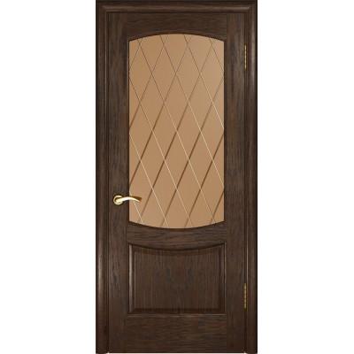 Дверь Luxor Лаура-2 ДО мореный дуб со стеклом