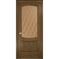 Дверь Luxor Лаура-2 ДО светлый мореный дуб со стеклом