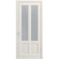 Ульяновская дверь Luxor Титан-3 ДО дуб RAL 9010 со стеклом
