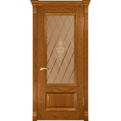 Дверь Luxor Фараон-1 ДО дуб золотистый со стеклом