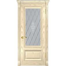 Дверь Luxor Фараон-1 ДО дуб слоновая кость со стеклом
