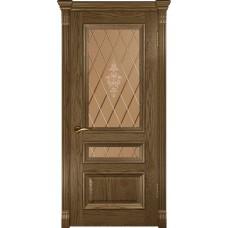 Дверь Luxor Фараон-2 ДО светлый мореный дуб со стеклом