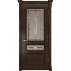 Дверь Luxor Фемида-2 мореный дуб со стеклом