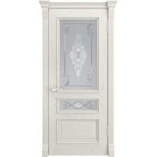 Дверь Luxor Гера-2 дуб RAL 9010 со стеклом