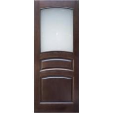 Дверь массив сосны ПМЦ М16 ДОФ темный лак