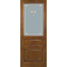 Дверь массив сосны ПМЦ М5 ДОФ коньяк