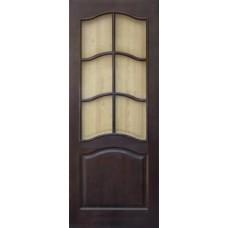 Дверь массив сосны ПМЦ М7 ДОФ темный лак