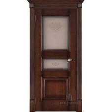Дверь  шпонированная  Porte Vista Терзо ДО орех