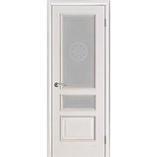 Дверь  шпонированная  Porte Vista Вена ДО белая патина
