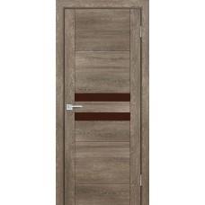 Дверь Profilo Porte PSN-4 ДО Бруно антико со стеклом Кофе Лакобель