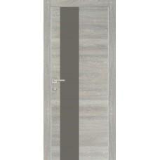 Дверь Profilo Porte PX-6 ДО Дуб грей патина со стеклом Серый Лакобель