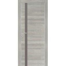 Дверь Profilo Porte PX-8 ДО Дуб грей патина со стеклом Серый Лакобель