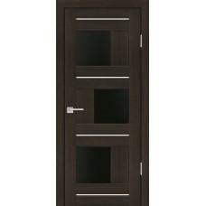Дверь Profilo Porte PS-13 Мокко со стеклом Черный Лакобель