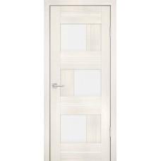 Дверь Profilo Porte PS-13 Эшвайт мелинга со стеклом Сатинат
