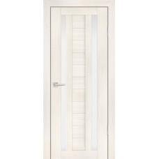 Дверь Profilo Porte PS-15 Эшвайт мелинга со стеклом Сатинат
