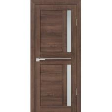 Дверь Profilo Porte PS-19 ДО Орех пасадена мелинга со стеклом Сатинат