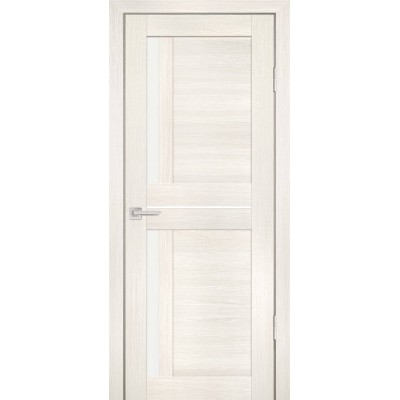 Дверь Profilo Porte PS-19 Эшвайт мелинга со стеклом Сатинат