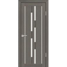 Дверь Profilo Porte PS-33 Грей мелинга со стеклом Сатинат
