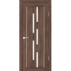 Дверь Profilo Porte PS-33 ДО Орех пасадена со стеклом Сатинат