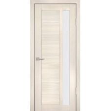 Дверь Profilo Porte PS-40 Эшвайт мелинга со стеклом Сатинат